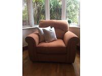BRAND NEW Zelda Russet Comforter Chair Single Armchair Sofa Comfortable Red Orange Thick Settee Furn
