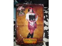 BUCCANEER / PIRATE WENCH FANCY DRESS OUTFIT 16/18 GREAT FOR PARTY OR HEN DO