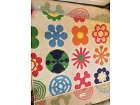 Lusy blom ikea rug kids bedroom