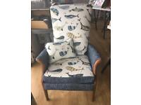 Newly Upholstered Parker Knoll Arm Chair