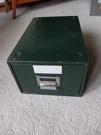 Retro metal steel drawer