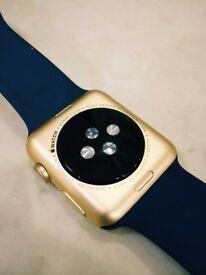Apple watch : 42 mm....sport-gold edition.