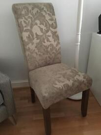 Kingston Dining Chair Floral Sage with Walnut Legs (New Ex display)