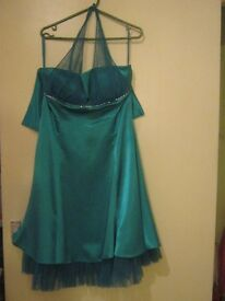 brown new evening dress for sale size 14