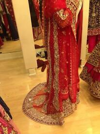 Red Indian/Pakistani bridal dress (available in two colours)