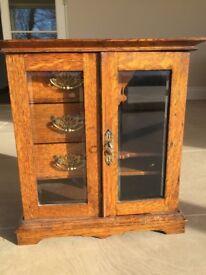 Antique Walnut Smokers Cabinet.