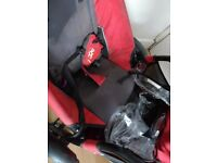 Phil & Teds Sport Double Pushchair in Red