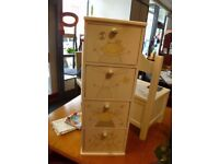 Children's Chest of Drawers with painted design