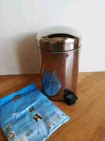 Barbantia Bathroom Bin 3L with Liner Bags - Good Used Condition