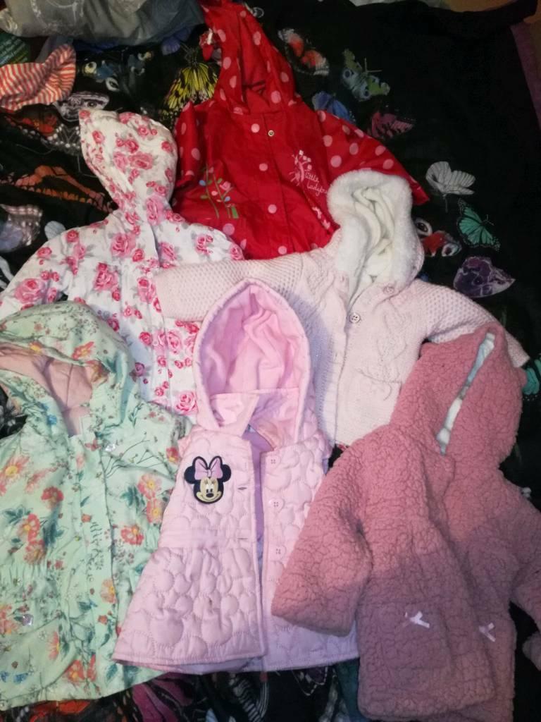 700bcb9b3445 Baby girl coat bundle 9-12 months