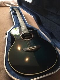 Yamaha APX-5A Electric acoustic with hard case, strap, capo, picks, and tab book