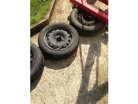 5 saxo steel wheels and tyres