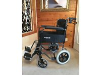 Roma Medical Transit Wheelchair for sale, nearly new. Sale includes cushion & cosy toes