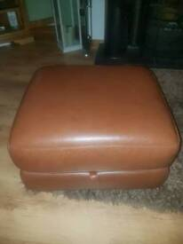 Dfs Brown leather storage stool