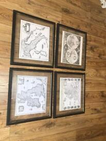 Barker and stone house map print frames.