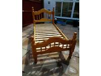 Pair of single pine beds - will sell separately