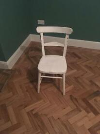 Painted wooden dining chair