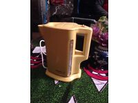 Electric kettle - yellow - retro