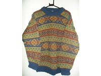 Jumper - 100% Woollen Men's multi coloured -- Size: Large - collection only