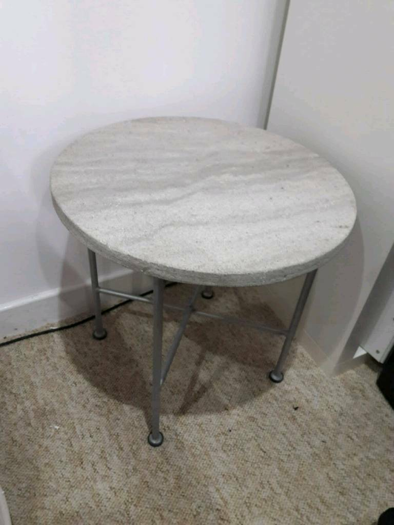 Habitat Side Table Contemporary Concrete Top And Foldable Legs In Hamilton South Lanarkshire Gumtree