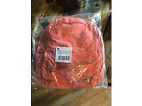 Urban outfitters Coral Canvas Backpack Brand New