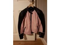 Pink! Richa Ladies leather jacket, armour, thermal inner, Size 14