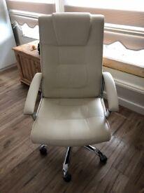 QUICK SALE!!! Swivel Cream Desk Chair