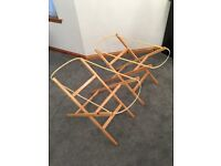 Folding moses basket stand ( 2 available )