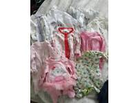Girls newborn and Tiny baby clothes bundle