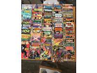 Large pile of comics. Spider-Man, X-Men, Iron Man, Avengers. 121 total