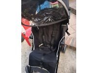 Maclaren stroller with hood and rain cover
