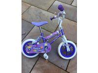 Purple girl daisy chain bike