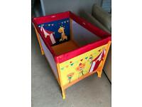 Mothercare Little Circus Cot Bed, hardly used, fab condition