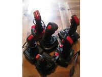 Selection of old joysticks