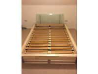 Nolte King Sized double bed frame with slatted base and glass headboard - MUST GO THIS WEEKEND