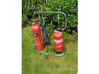 Fire extinguishers with Stand please note the extinguishers will require servicing £25