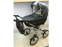 SILVER CROSS SLEEPOVER ELEGANCE HADRIA BLACK PRAM PUSHCHAIR