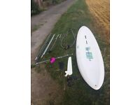 """""""Melody 350 All Round"""" Windsurfer with 2 sails - ideal beginners/child's board - ONLY £65"""