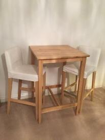 IKEA BJORKUDDEN High Table & Chairs