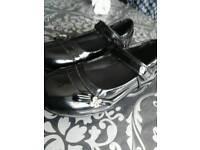 Black Girls Shoes Kids Children Junior Size 13