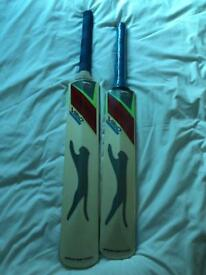 Two Slazenger Cricket Bats