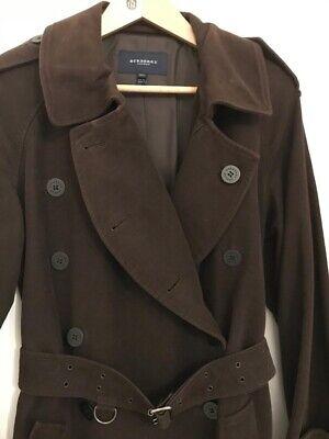 Manteau trench burberry façon peau marron