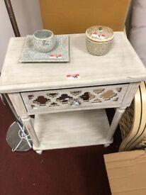 antique effect console table