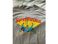 DC The Super Friends Men's Large T-shirt Featuring Wonder Woman, Superman and Batman.