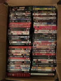 Boxes of DVD's
