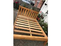 Lovely pine double bed frame - £75 delivered