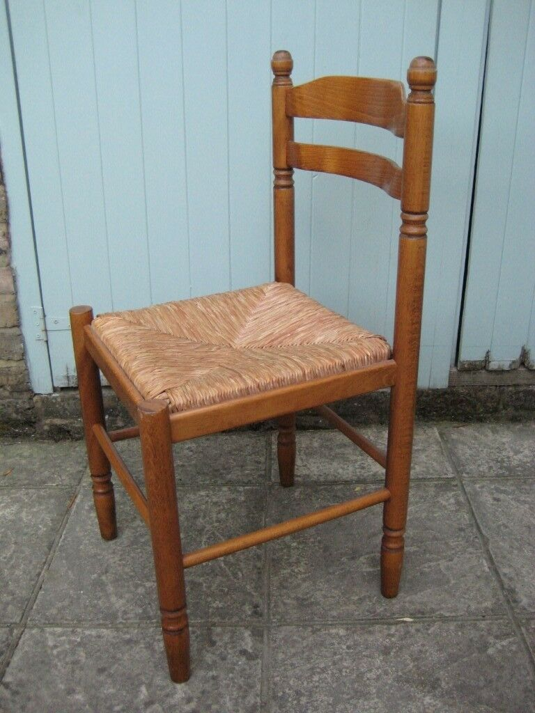 Lovely Pair of Vintage Solid Oak Wood Kitchen / Dining Chairs with ...