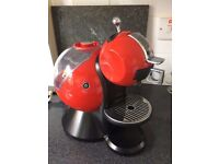 Red Dolce Gusto coffee machine hardly used