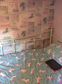 Arabella single bed frame with memory foam matress