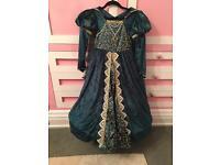 Beautiful medieval princess dress